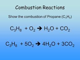 show the combustion of propane c3h8