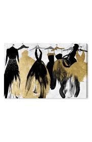 oliver gal black gold dresses canvas