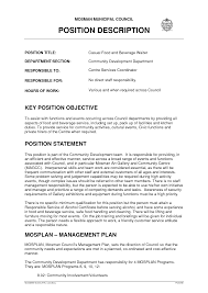 Restaurant Waitress Job Description Sample Resume Job Description