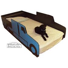 semi tractor truck twin kids bed frame handcrafted truck themed children s bedroom furniture
