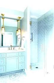 grey subway tile bathroom glass shower gray blue ceramic gr