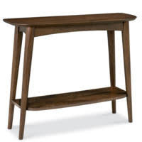 narrow console table. Bentley Designs Oslo Walnut Console Table With Shelf Narrow L