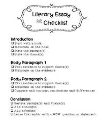 literary essay writing checklist by classroom charm tpt literary essay writing checklist