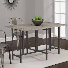 metal and wood dining table. Amazon.com - Convertible Dining Table Wood Contemporary Expandable Home Console Kitchen Tables Metal And E