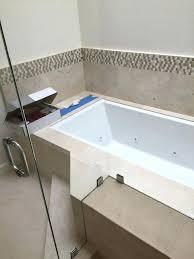 corner shower enclosure installation a with tub cutout custom glass bathtub cut out conversion kit