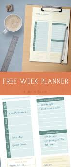Printable Week Planner Free Printable Weekly Planner Instant Download Perfect For Busy