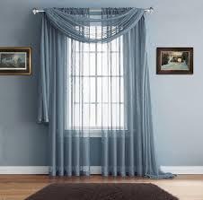 Warm Home Designs Warm Home Designs Premium Sheer Sea Green Window Scarves Or