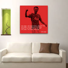 man u ryan giggs quote 2 square wall art on manchester united wall art with man u ryan giggs quote 2 square wall art 0