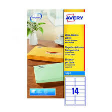 avery sheet labels avery inkjet address labels 14 per sheet clear pack of 350 j8563 25