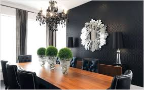 ... Mirrors For Modern Dining Room With Black Accent Wall Color S M L F