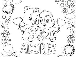 Small Picture Care Bears Coloring Pictures To Print Adorable Cozy And Pe