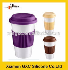 New Design Reusable Mug Cup With Silicone Sleeve