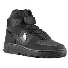 nike air force 1 high boys grade school all black black air force 1 nike