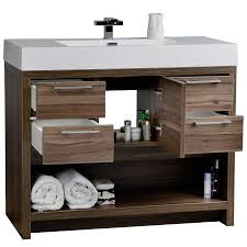 Bathroom Vanity Set 40 Modern Bathroom Vanity Set With Walnut Finish Tn L1000 Wn