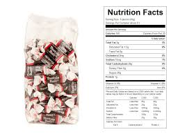 tootsie rolls prepackaged candy nutrition facts