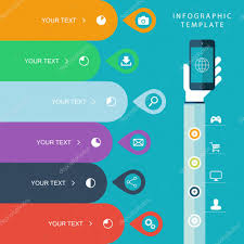 Web Design Marketing Plan Template Info Graphic Template With Hand Holding Phones For Marketing