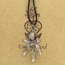 Rose Quartz <b>Crystal Dreamcatcher</b> Necklace | Earth & Soul - Earth ...