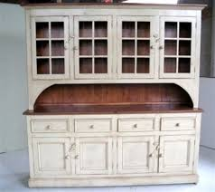Country Style White Kitchen Hutch