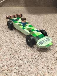 Pinewood Derby Cars Designs My Sons Pinewood Derby Car Minecraft