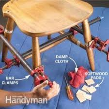 fix as some lawn chairs clue. fix a wobbly chair: reglue wooden chair as some lawn chairs clue t