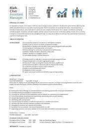 Assistant Manager Resume Retail Jobs Cv Job Description In