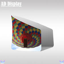 Stall Display Stands Trade Show Semi Circle Booth Portable Advertising Tension Fabric 72