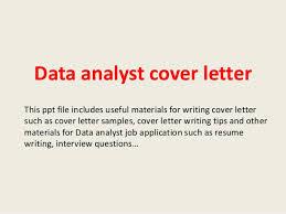 Data Analyst Cover Letter