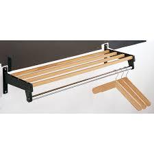 Magnuson Group Coat Rack 100 Shelf With Hanger Bar Polished Chrome Wall Mounted Towel Rack 32