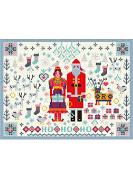 "<b>Набор для вышивания</b> ""Santa and Mrs Claus"" <b>Riverdrift</b> House ..."