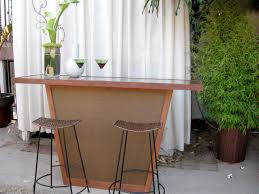 build an outdoor bar with a pebble top