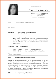 Resume Template For A College Student Mesmerizing Cv Template For Students At College Yelommyphonecompanyco