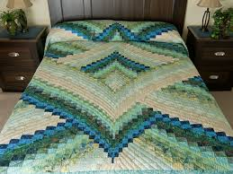 Lightning Strikes Quilt -- great carefully made Amish Quilts from ... & Lightning Strikes in Land and Sea Shades King Size Bed Quilt Photo ... Adamdwight.com