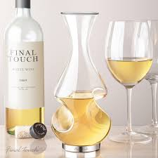 twist decanter  modern glass carafe  uncommongoods