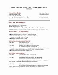 Resume Template For Accounting Major Valid Mba Resume Sample New