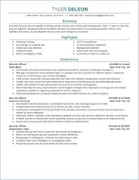 Security Resume Objective Examples Resume Objective Example For Law Enforcement Examples Template