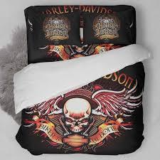 bedroom unique bed decoration with harley davidson comforter set