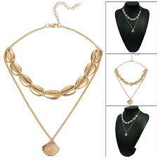 2019 Trendy For Women <b>Gold Silver Color Sea</b> Shell Choker ...
