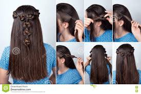 Twisted Hair Style twisted hairstyle tutorial for long hair stock photo image 73123857 6281 by wearticles.com