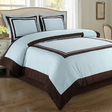 blue chocolate hotel queen duvet style comforter set wrinkle resistant cotton tap to expand