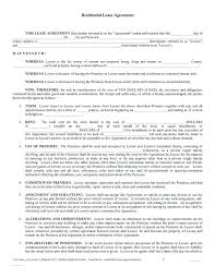Generic Residential Lease Agreement Mesmerizing Lease Templates Colbroco