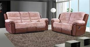 fabric recliner sofa. Furniture Combination Of Leather And Fabric Reclining Sofa Recliner