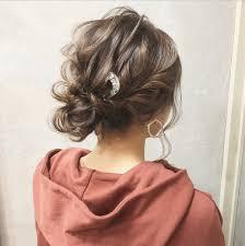 簡単女性の薄毛を上手に隠すヘアアレンジシンプルシニヨンstyle