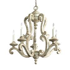 distressed white wood chandelier lighting bay in 5 light distressed antique white candle chandelier distressed white