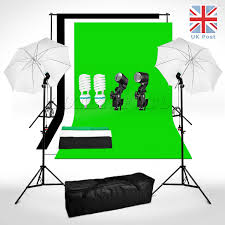 photography studio backdrop soft umbrella lighting kit background support stand 1 sur 6 voir plus
