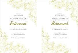 Retirement Celebration Invitation Template Free Printable Event Invitations Venturae Co