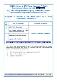 brc documentaion issue audit checklist pdf flipbook brc documentaion issue 7 audit checklist