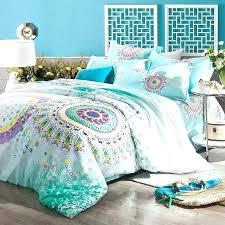 aqua bedding sets aqua blue bedding turquoise aqua blue purple and yellow bohemian tribal style circle print pattern full aqua quilt cover sets