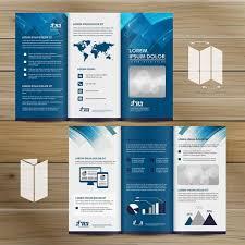 Tri Fold Brochure Mock Up Lorem Ipsum Mockup Bar Chart