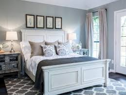 Bedroom: Grey Bedroom With White Furniture