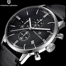 Pagani Design Watch Top Pagani Design Chronograph Leather Mens Watches Quartz Fashion Sport Wristwatch Men Relogio Masculino Watches Wholesale Great Watches From Luney